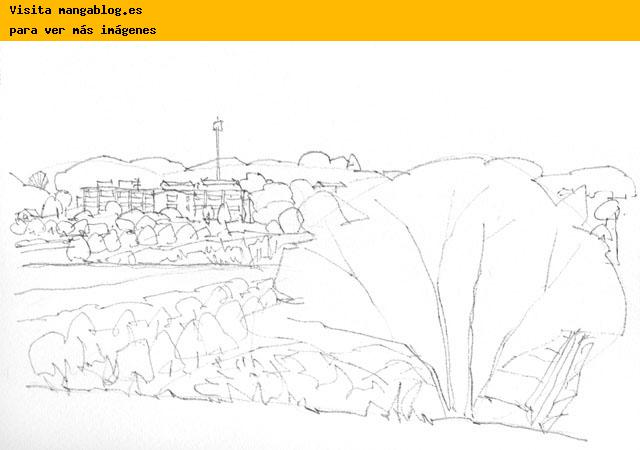 Dibujos de paisajes para pintar con acuarela - Imagui